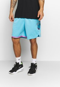 Nike Performance - NBA CITY EDITION MIAMI HEAT SHORT - Krótkie spodenki sportowe - blue gale - 0