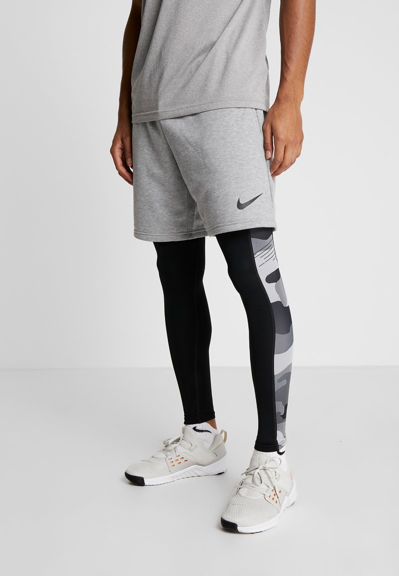 Nike Performance - CAMO - Tights - black/white