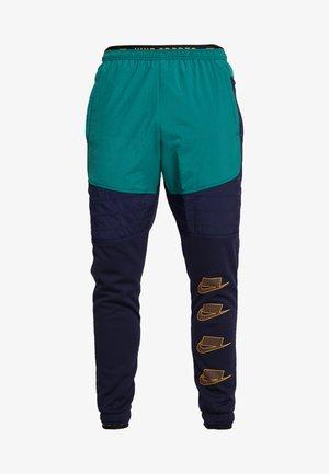 PANT - Tracksuit bottoms - blackened blue/mystic green/kumquat
