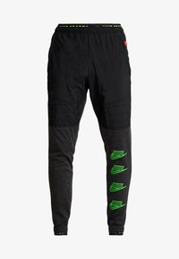 black heather/black/scream green