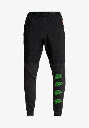 PANT - Verryttelyhousut - black heather/black/scream green