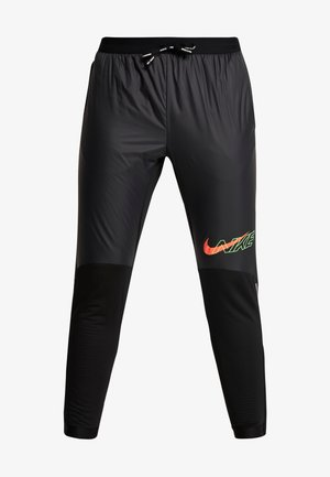ELITE - Tracksuit bottoms - black/scream green/bright crimson
