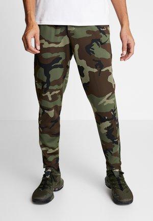 THERMAFLEX PANT PRINT - Spodnie treningowe - medium olive/black