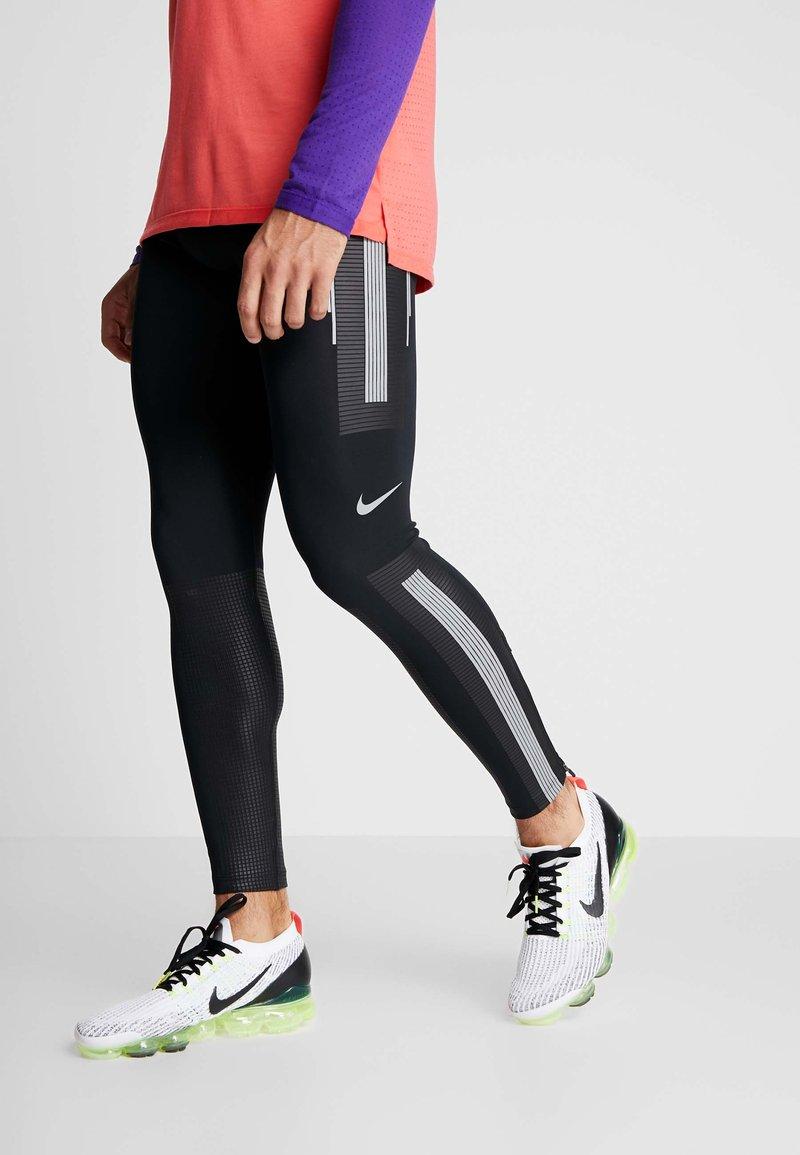 Nike Performance - POWER FLASH  - Punčochy - black/reflective silver