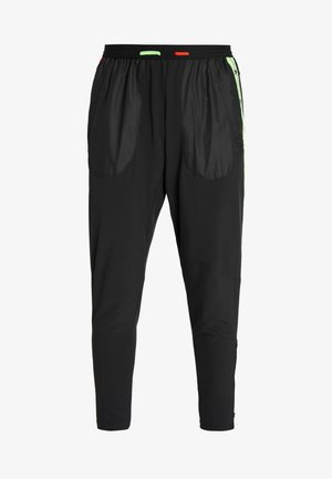 WILD RUN PANT - Tracksuit bottoms - black/electric green/habanero red