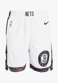 Nike Performance - NBA CITY EDITION BROOKLYN NETS SWINGMAN SHORT - Krótkie spodenki sportowe - white/black - 4