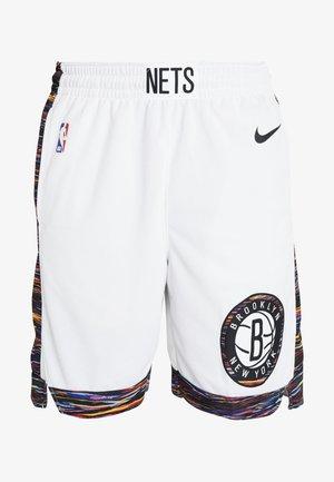 NBA CITY EDITION BROOKLYN NETS SWINGMAN SHORT - Krótkie spodenki sportowe - white/black