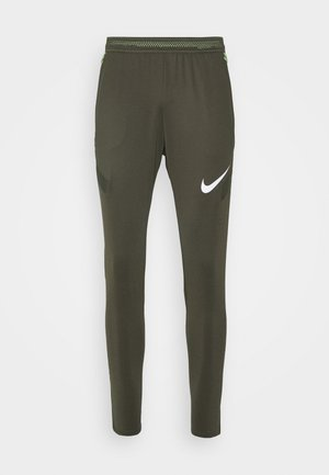 DRY STRIKE PANT - Pantalon de survêtement - cargo khaki/cargo khaki/white