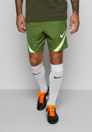 DRY STRIKE SHORT - Pantalón corto de deporte - cargo khaki/ghost green/white
