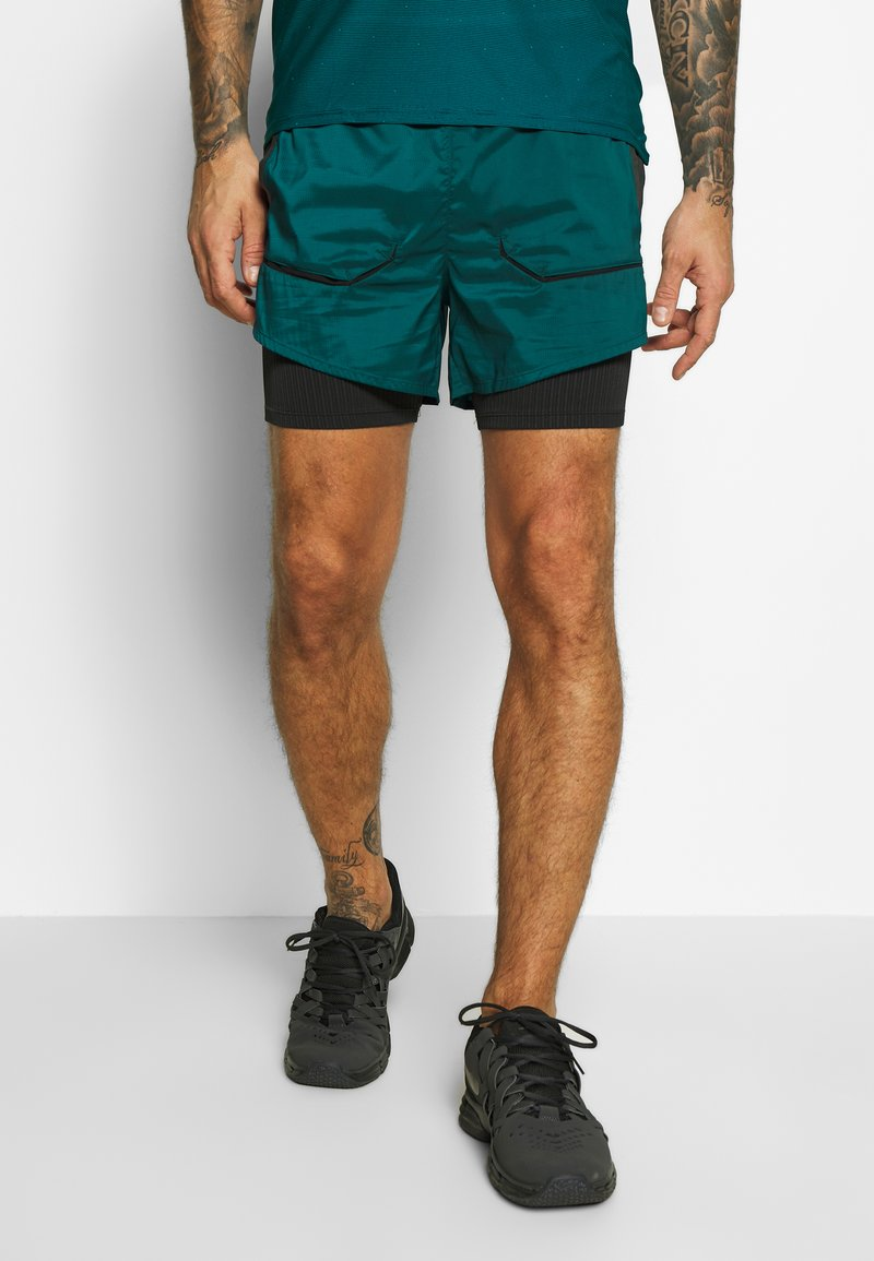 Nike Performance - Pantalón corto de deporte - midnight turq/black
