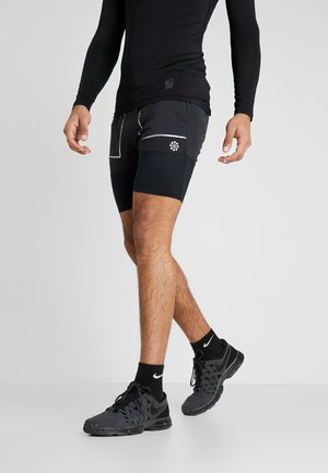 SHORT FUTURE FAST - Sports shorts - black/dark smoke grey/reflective silver
