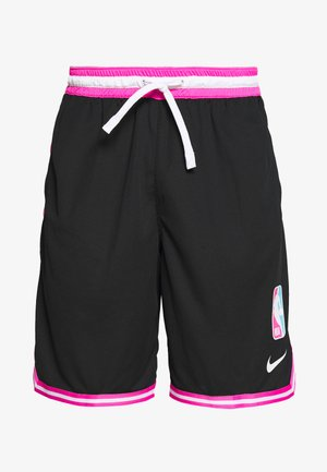NBA SHORT DNA - Short de sport - black/laser fuchsia/white