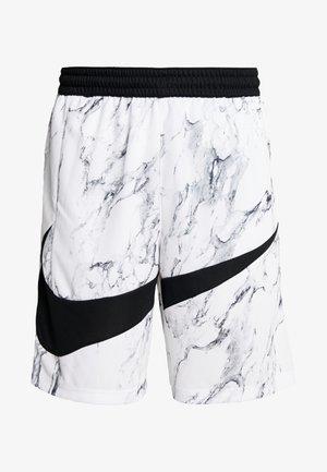 DRY SHORT MARBLE - Sports shorts - white/black