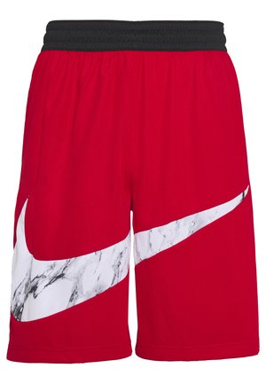NIKE DRI-FIT HERREN-BASKETBALLSHORTS - Sports shorts - university red/white