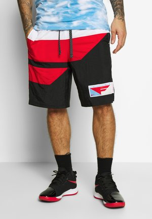 FLIGHT SHORT - Pantalón corto de deporte - black/university red/psychic blue/white