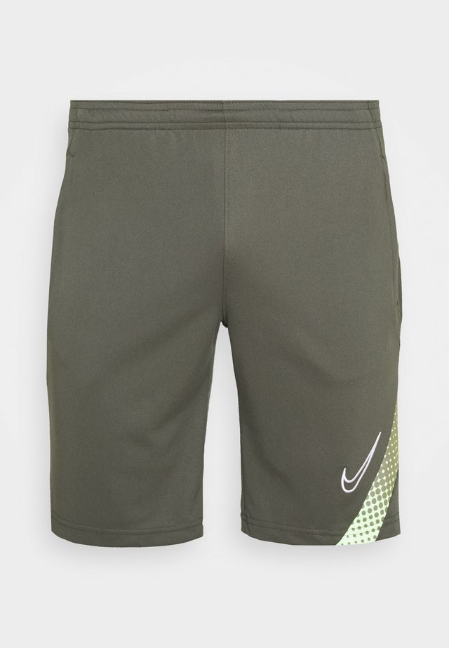 DRY ACADEMY SHORT - Korte broeken - cargo khaki/thermal green/white