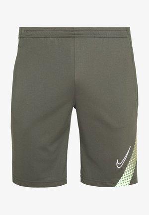 ACADEMY - Sports shorts - cargo khaki/thermal green/white