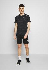 Nike Performance - DRY SHORT  - Sports shorts - black/white - 1