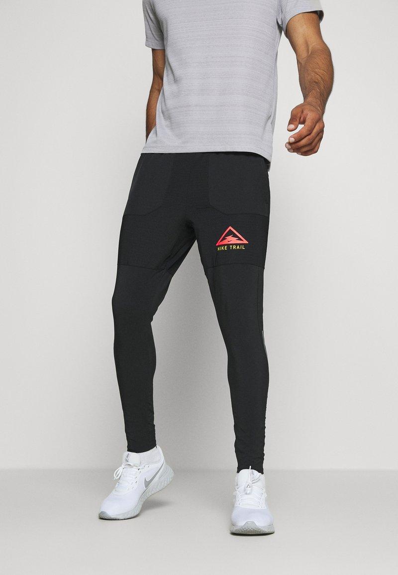 Nike Performance - PANT TRAIL - Verryttelyhousut - black/laser crimson