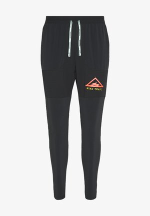 PANT TRAIL - Tracksuit bottoms - black/laser crimson