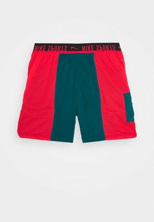 SHORT - Pantalón corto de deporte - bright spruce/laser crimson/black