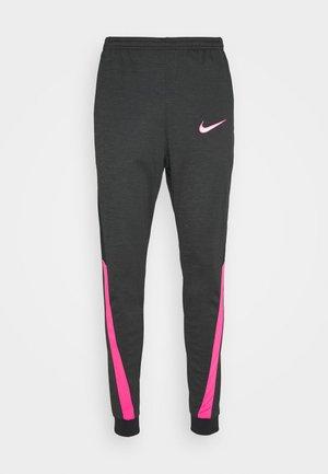 DRY ACADEMY - Teplákové kalhoty - dark smoke grey/heather/hyper pink/hyper pink