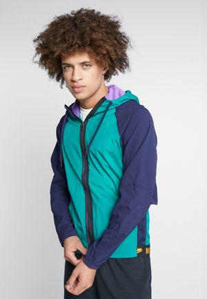 FLEX - Training jacket - mystic green/blackened blue/kumquat