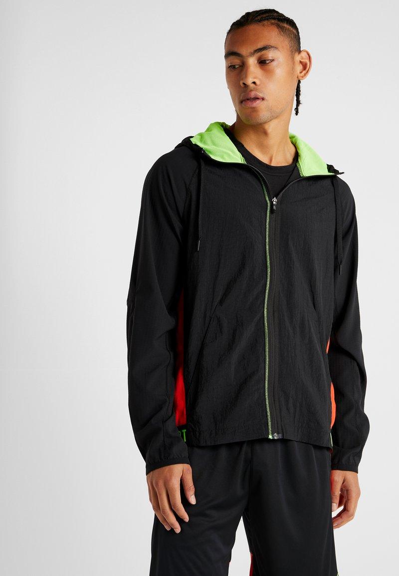Nike Performance - FLEX - Training jacket - black/electric green