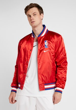 NBA COURTSIDE JACKET - Veste de survêtement - university red/wolf grey/white