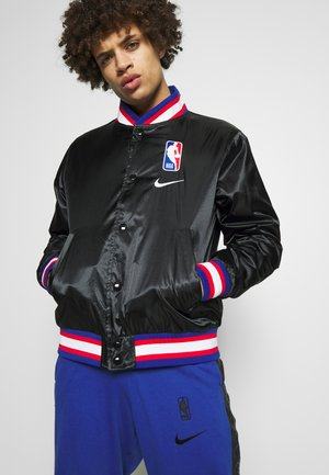 NBA COURTSIDE JACKET - Veste de survêtement - black/wolfgrey/white
