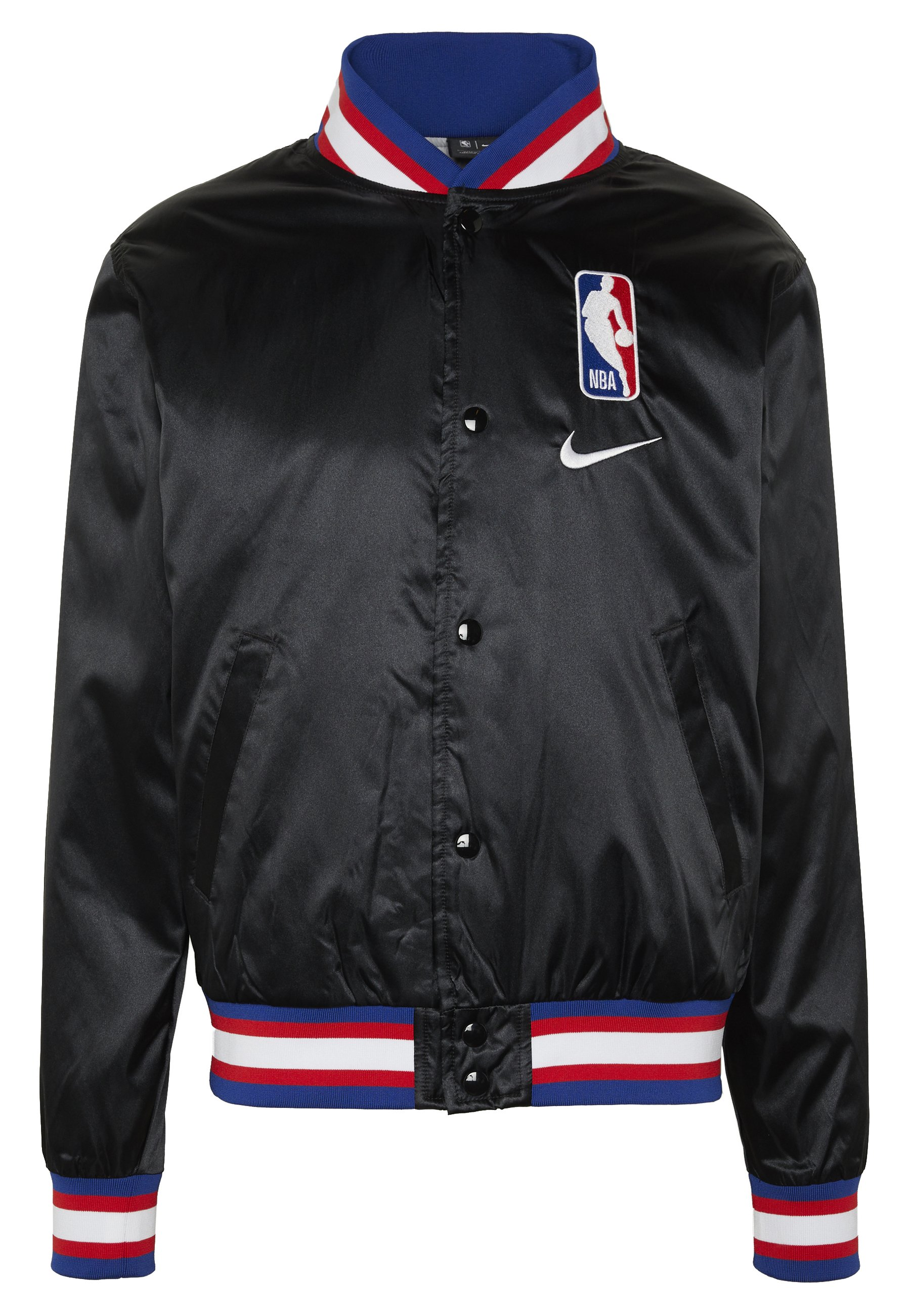 Nike Performance NBA COURTSIDE JACKET - Training jacket - black/wolfgrey/white