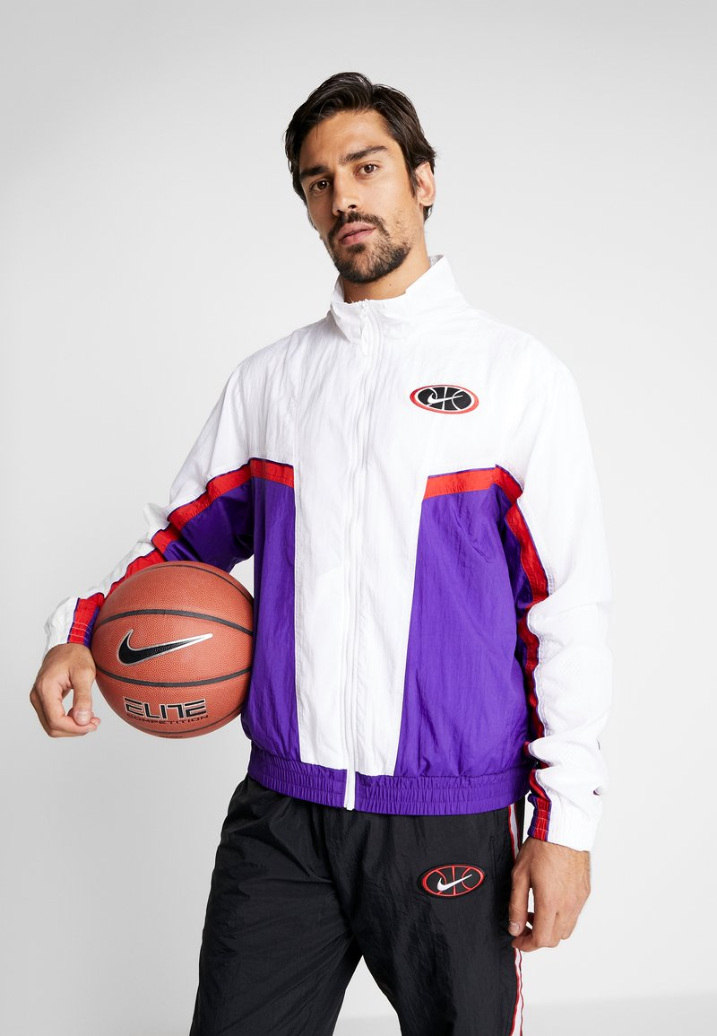 Nike Performance - THROWBACK  - Veste de survêtement - white/court purple/university red
