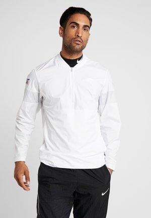 NFL 100 YEARS NEW ENGLAND PATRIOTS COACH JACKET - Klubbkläder - white/pure platinum