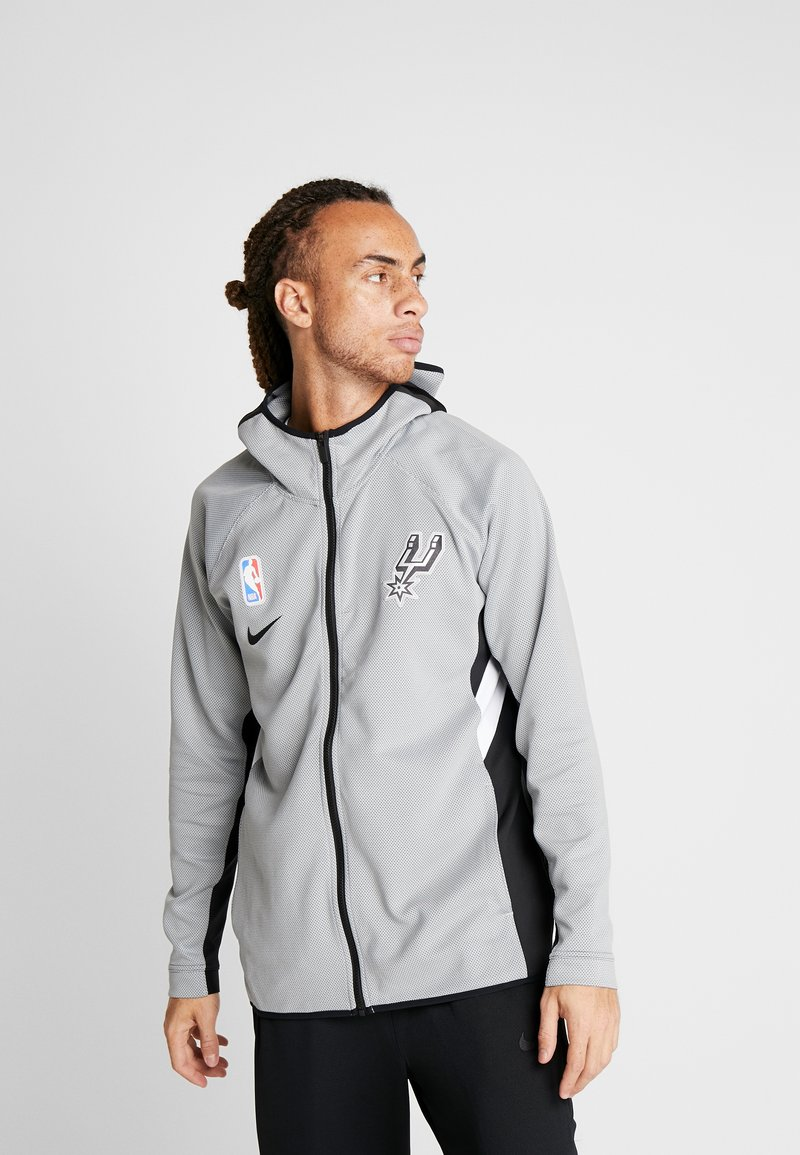 Nike Performance - NBA SAN ANTONIO SPURS THERMAFLEX FULL ZIP - Vereinsmannschaften - silver/black/white
