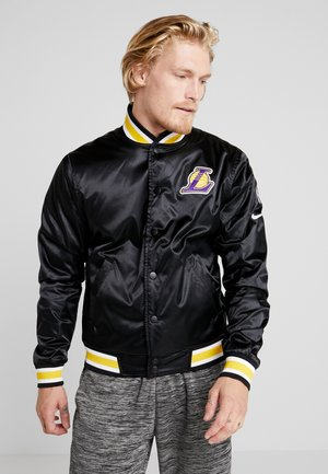 NBA LA LAKERS REVERSIBLE COURTSIDE JACKET - Artykuły klubowe - black/field purple/white