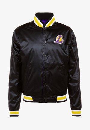 NBA LA LAKERS REVERSIBLE COURTSIDE JACKET - Club wear - black/field purple/white
