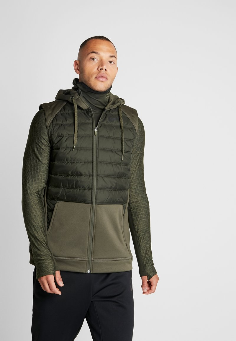 Nike Performance - THERMA VEST WINTERIZED - Waistcoat - khaki/sequoia/black