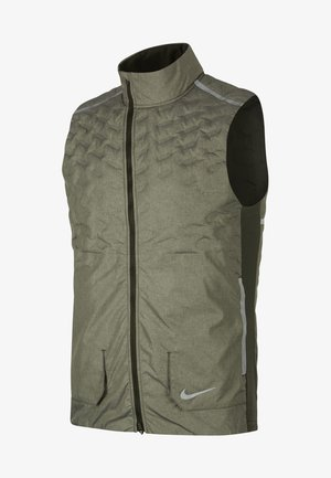 AROLFT - Waistcoat - dark green/mottled grey