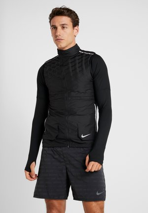 AROLFT - Vest - black/reflective silver