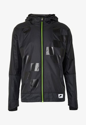 WILD RUN SHIELD - Sports jacket - black/off noir/reflective silver