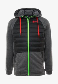 Nike Performance - Outdoor jacket - black heather/black/habanero red - 4