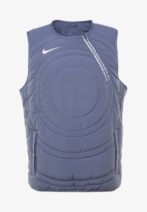 NIKE FC PAD VEST - Waistcoat - diffused blue/white/white