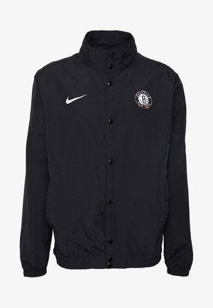 NBA BROOKLYN NETS CITY EDITION JACKET - Artykuły klubowe - black/white