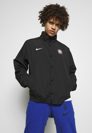 NBA BROOKLYN NETS CITY EDITION JACKET - Article de supporter - black/white