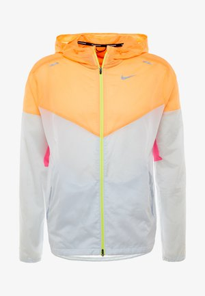 WINDRUNNER - Vindjacka - pure platinum/total orange/reflective silver