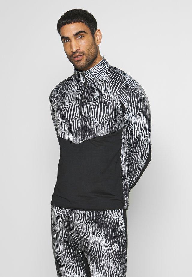 ELEMENT WARM - Laufjacke - black/reflective silver