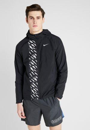 Juoksutakki - black/reflective silver