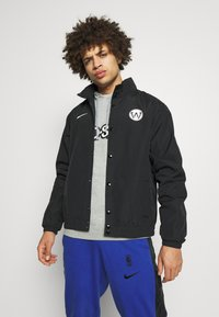 Nike Performance - NBA GOLDEN STATE WARRIORS CITY EDITION JACKET - Artykuły klubowe - black/white - 0