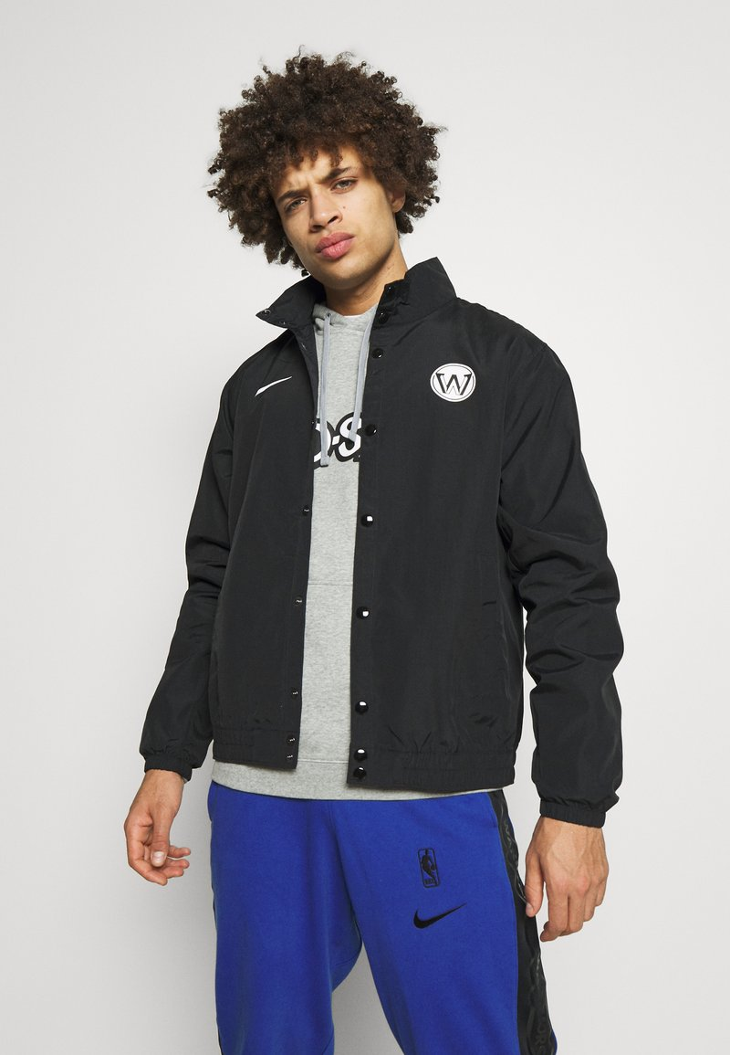 Nike Performance - NBA GOLDEN STATE WARRIORS CITY EDITION JACKET - Artykuły klubowe - black/white