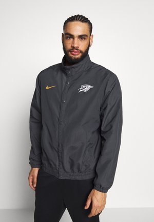 NBA OKLAHOMA CITY THUNDER CITY EDITION JACKET - Artykuły klubowe - anthracite/wheat